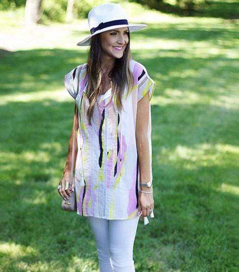 Lilla P tunic with white denim