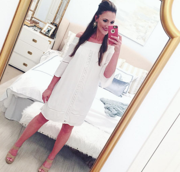 white off the shoulder dress from target