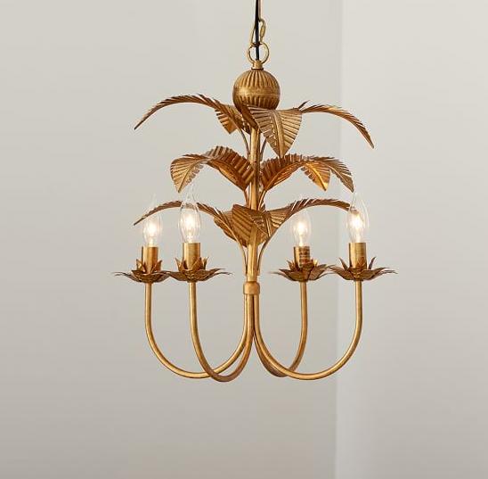 palm leaf chandelier