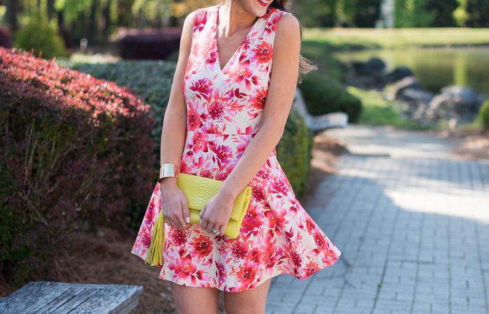 Flirty Floral Dress + Neon