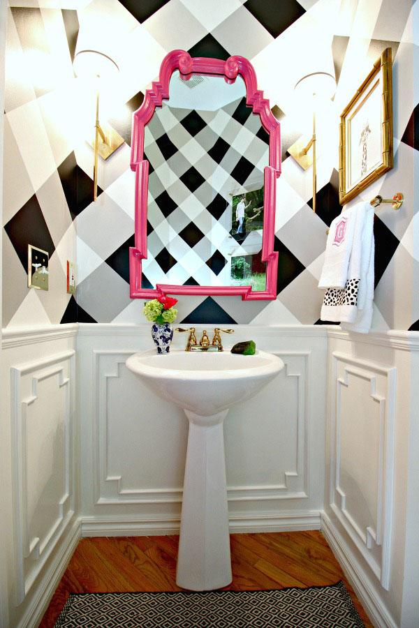 bold powder bathroom