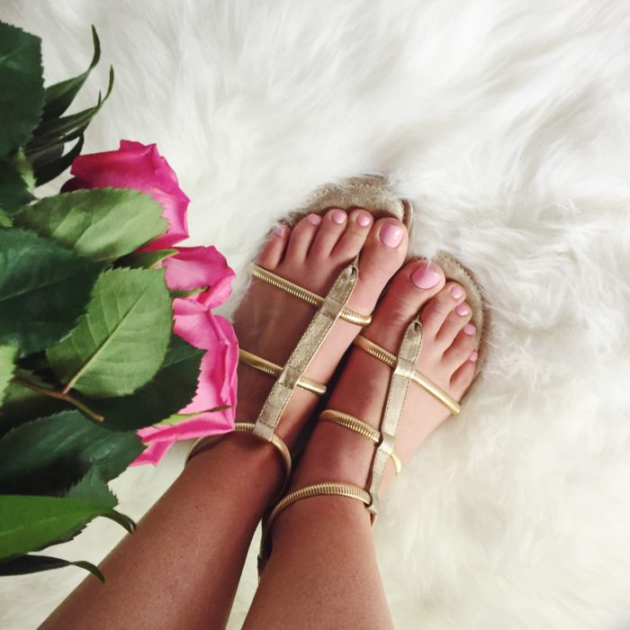 chic gold gladiator sandals