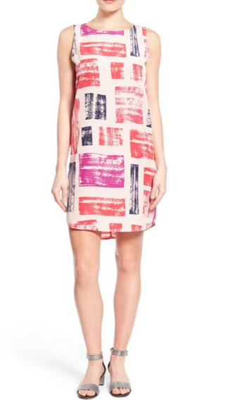 Halogen printed shift dress