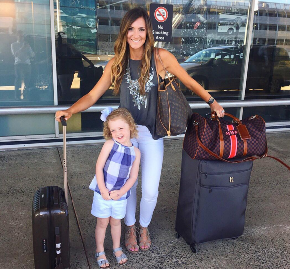 Casual travel style and chic luggage