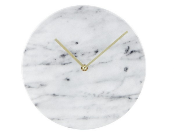 Chic marble clock