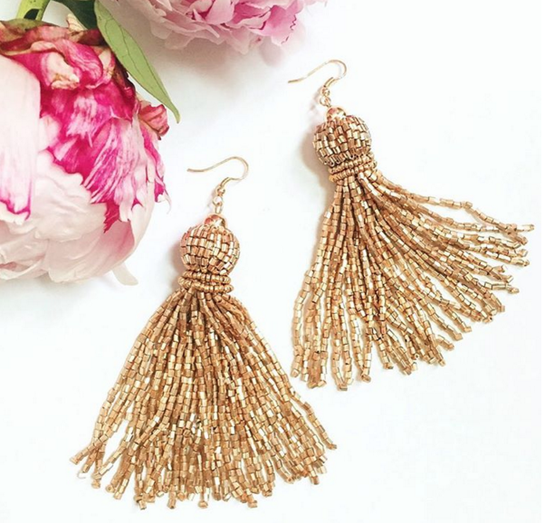 Gold tassel earrings under $10