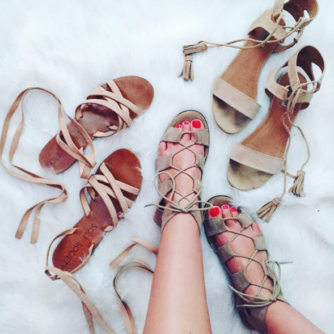 Neutral sandals all on sale