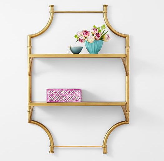 chic gold bamboo shelf
