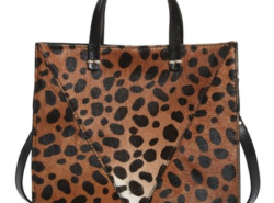 Leopard cross body tote