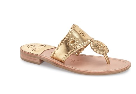 gold jack rogers on sale