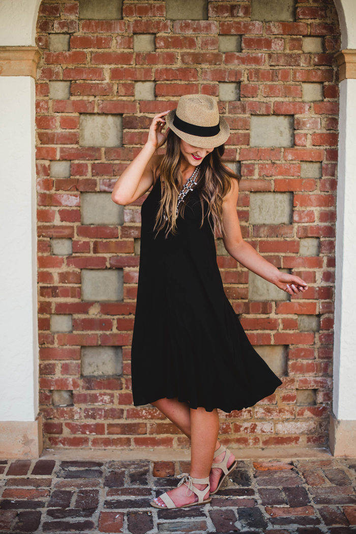 A little black dress perfect for casual summer weather