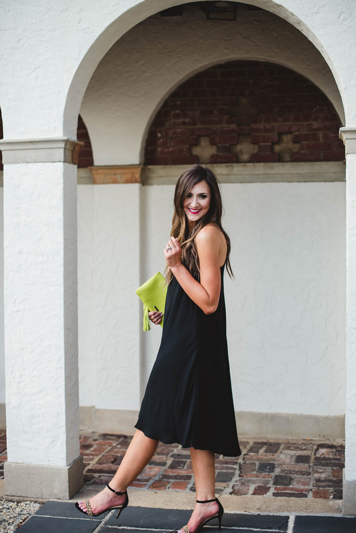 A cute little black dress that's easy to dress up for a summer date night