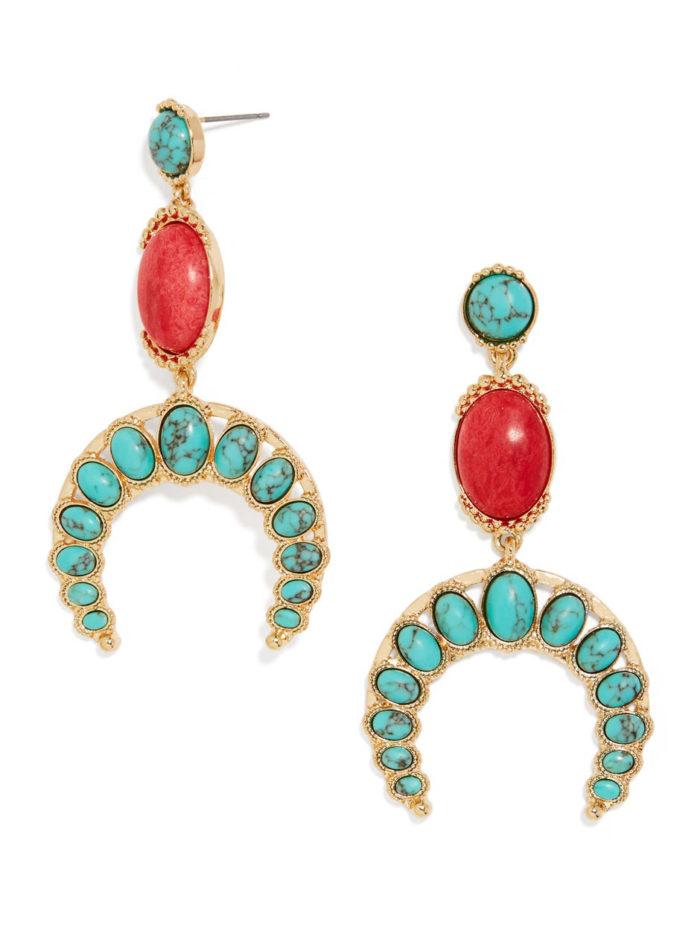 boho chic turquoise earrings