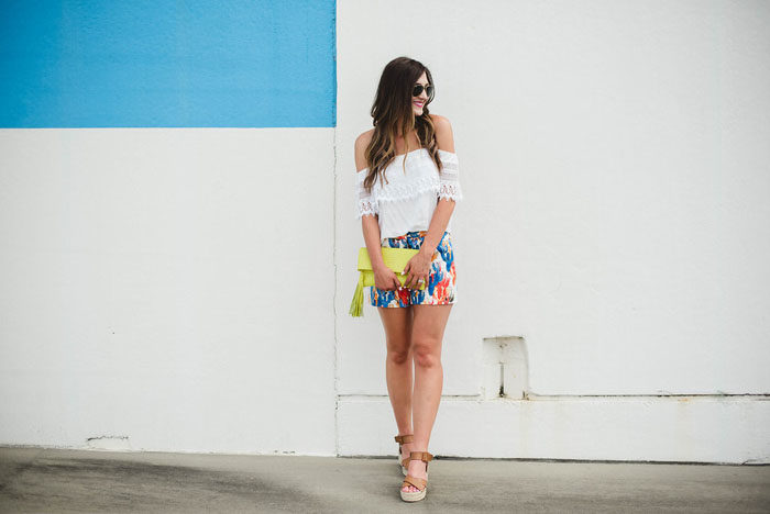 cactus shorts lace off the shoulder top 9