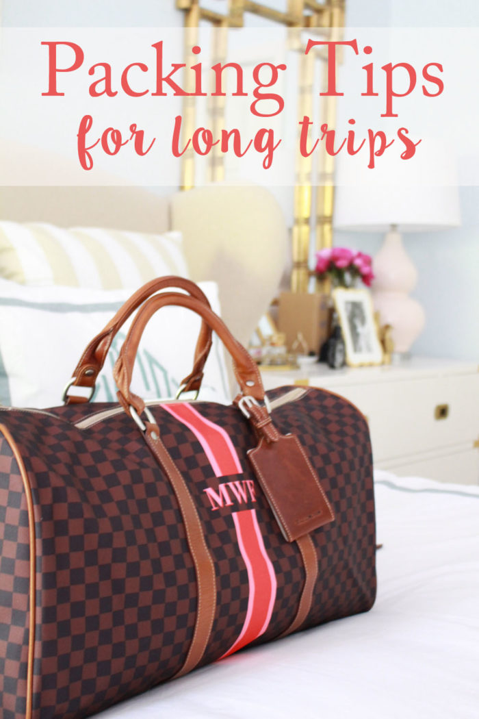 packing tips for a long trip