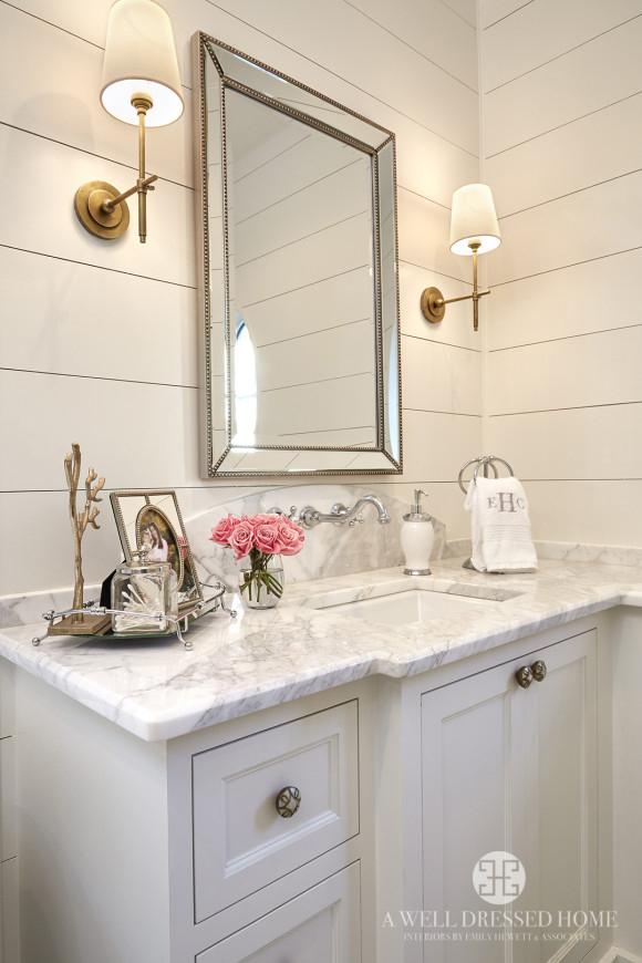 Glam farmhouse bathroom