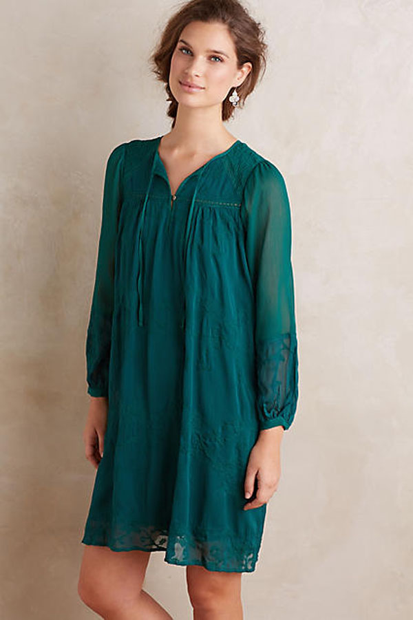Gorgeous green tunic dress