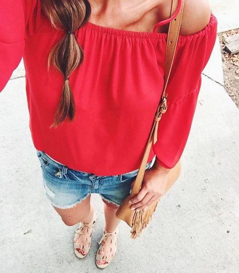 The best cold shoulder top that's also a great price.