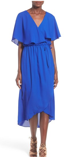 Royal Blue Cape Dress on sale