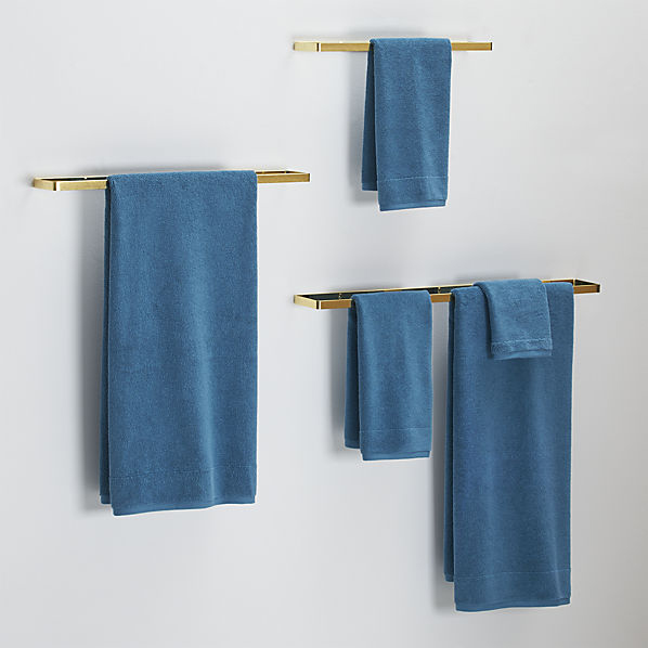 Brushed towel bars for chic bathroom storage