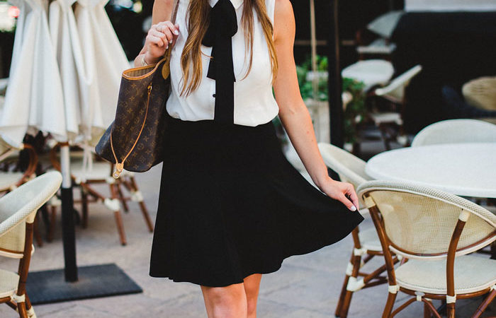 Bow Front Top and Flounce Skirt