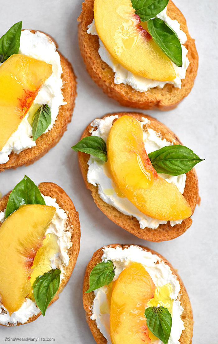 Peach Goat Cheese Bruschetta