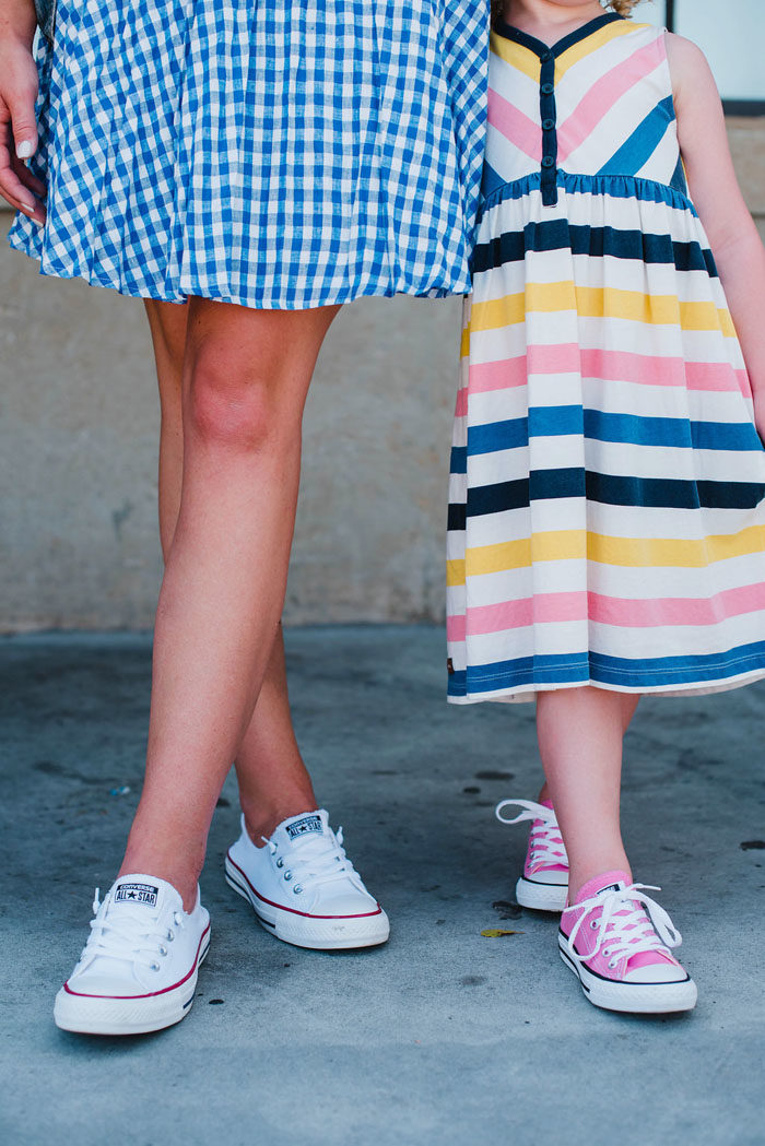Mommy and Me style in converse