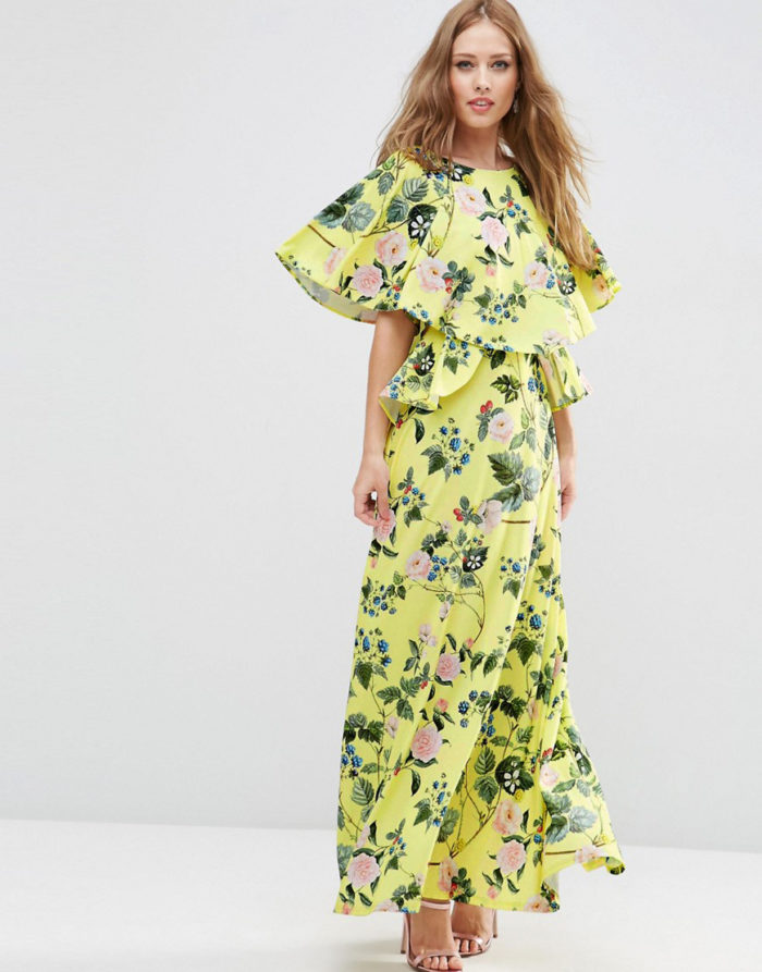 ASOS Strawberry Print Maxi Dress