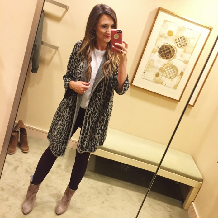 Gorgeous Joie leopard tunic cardigan for Fall.