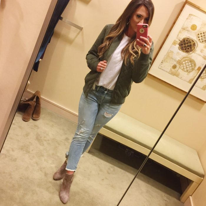 How to style an army green bomber jacket