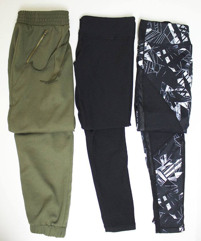 Types of pants to wear for Athlesiure.