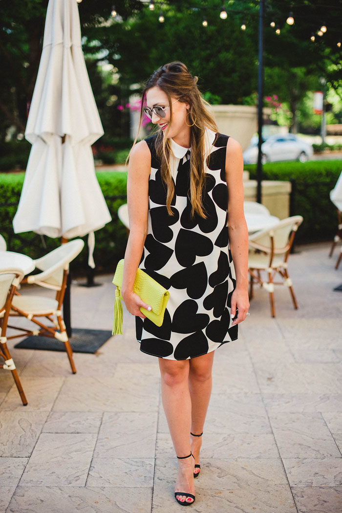 Black and White heart print shift dress | Cece dress 6