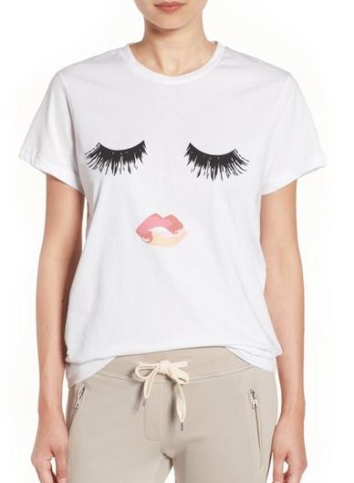 Sincerely Jules for Nordstrom eyelash t-shirt