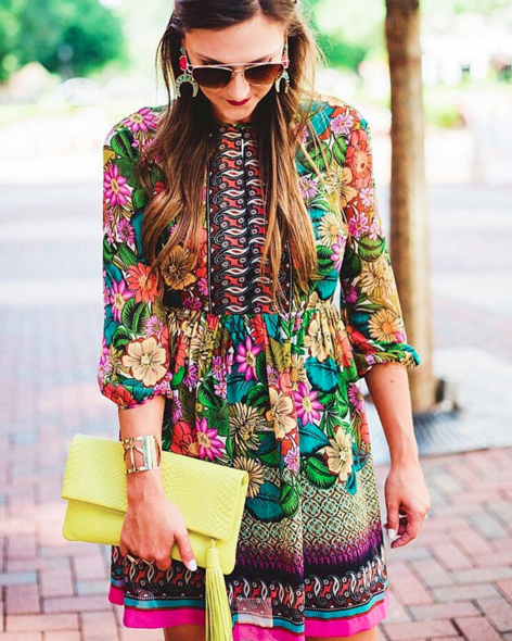 Colorful and cute dress for Fall