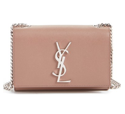 YSL small monogram crossbody bag with silver chain