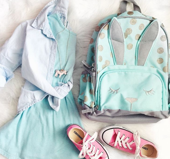 Back to School essentials including this darling Pottery Barn Kids bunny backpack