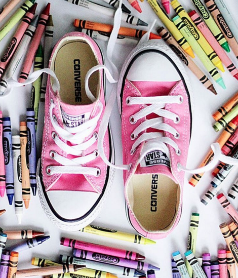 Pink converse are the perfect Back to School shoes for girls