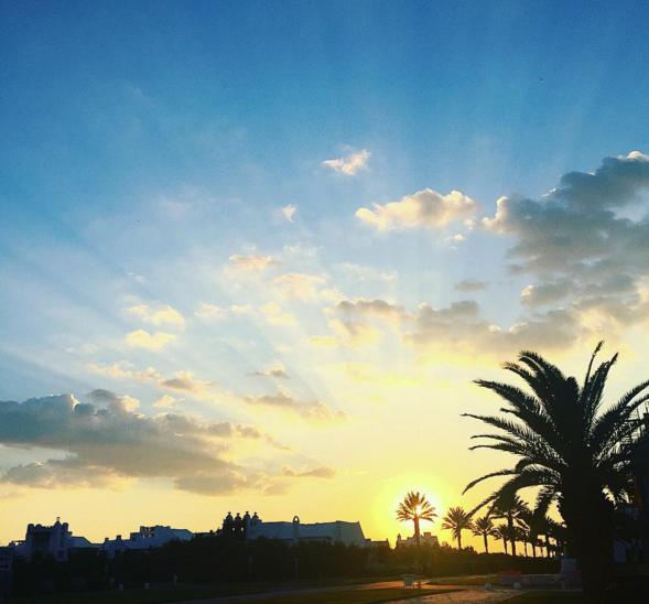Beautiful sunset in Alys Beach, Florida