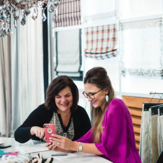 Blogger Mallory Fitzsimmons of Style Your Senses chooses custom roman shades at The Shade Store in Charlotte, NC.