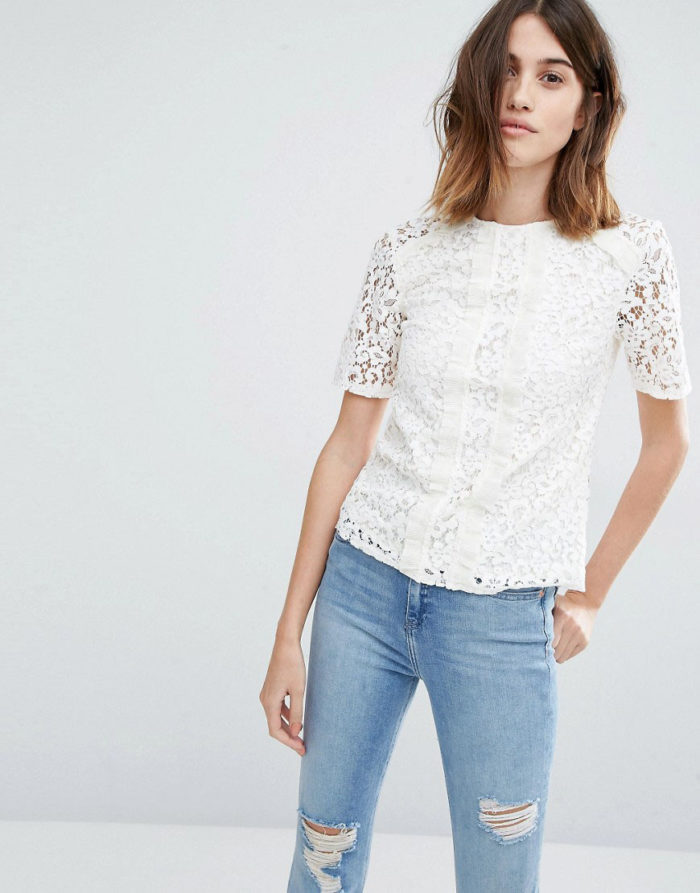 cute lace top | asos lace top