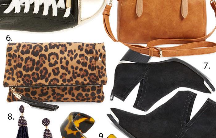 A mood board showcasing Fall Fashion Finds Under $50
