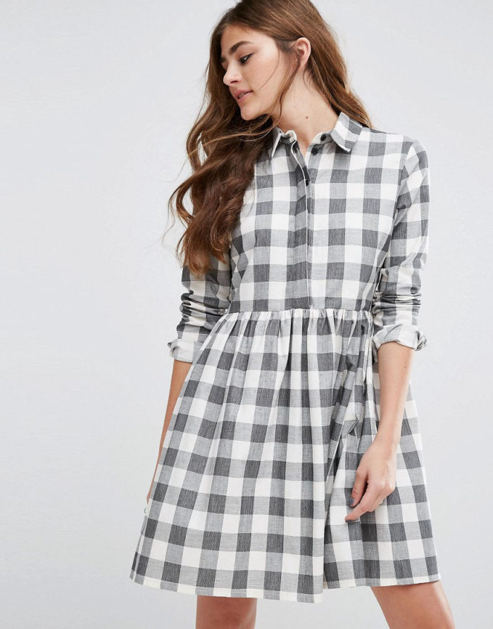 gingham smock dress from ASOS