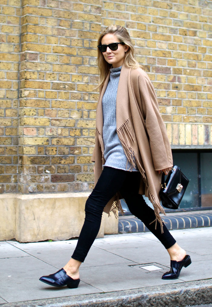 How to style flat mules for Fall