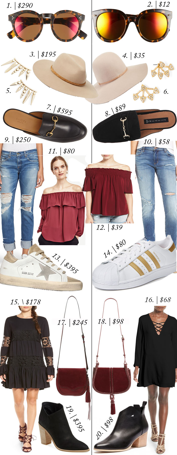 look for less pre fall | fall staples on a budget