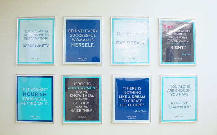 Inspirational Quote Wall as home decor