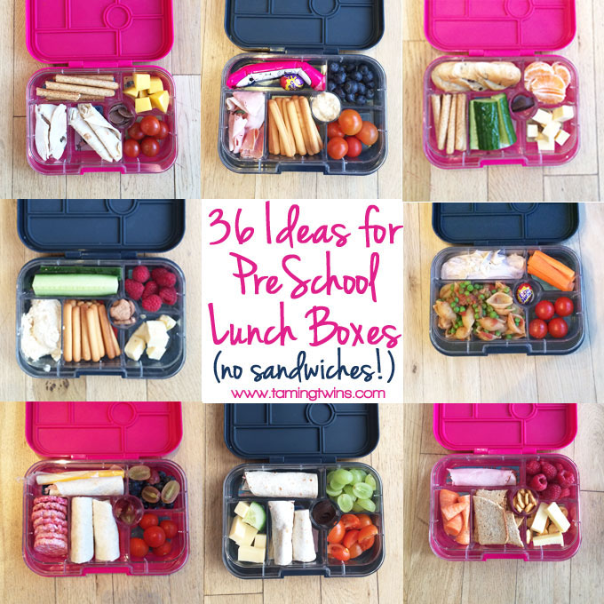 Ideas for pre-school lunch boxes