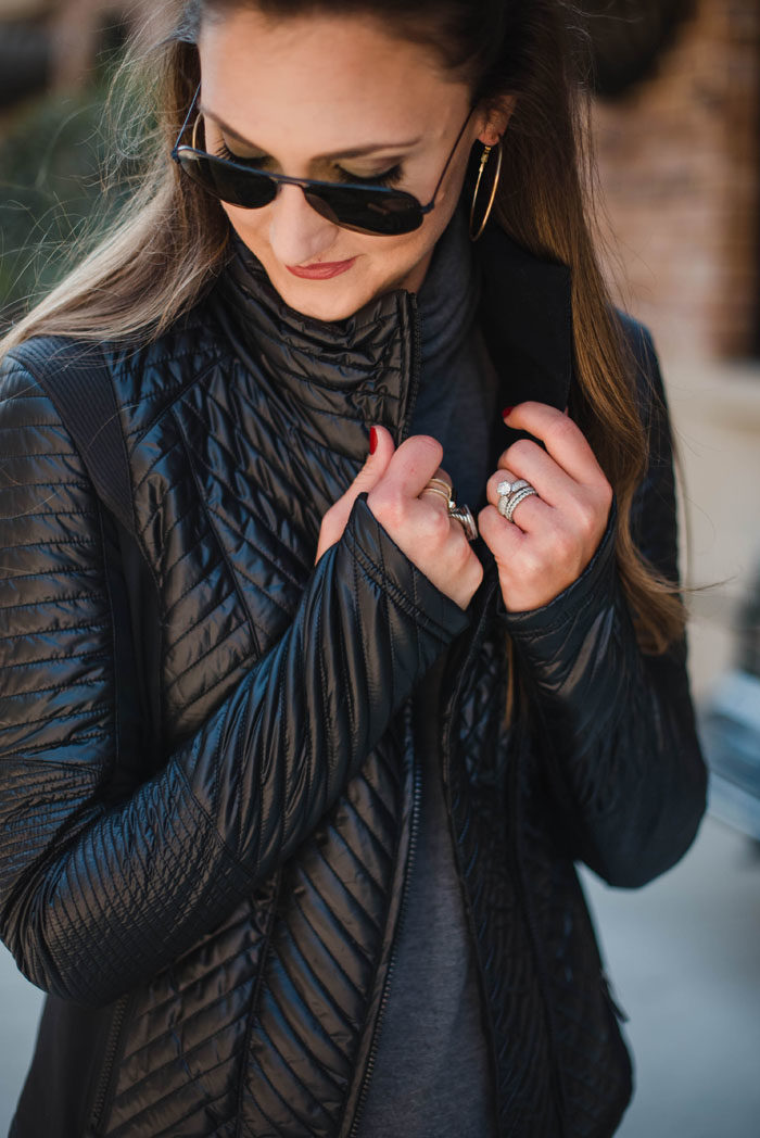 Mallory recommends this Zella quilted sport jacket as one of her must haves for Fall and Winter, especially for moms on the go.