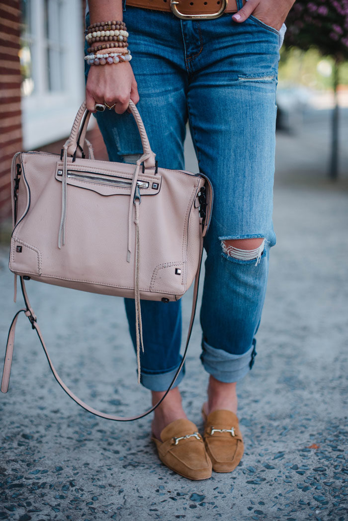 Rebecca Minkoff Regan satchel in blush pink