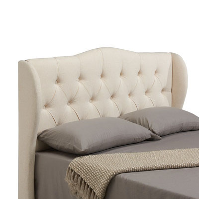 Wayfair Jameson+Upholstered+Wing+Headboard+in+Linen