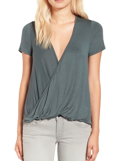 Lush Cross Front Tee at Nordstrom